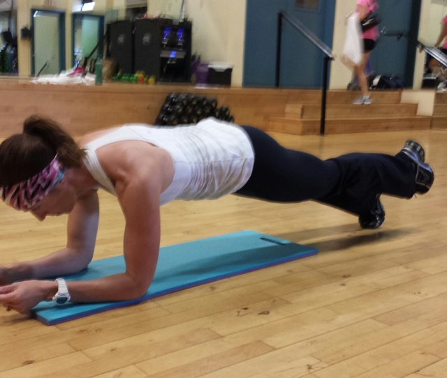 Front Plank With One Foot Elevated